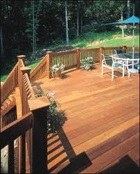Cedar Decking Materials Wood Deck Railing System